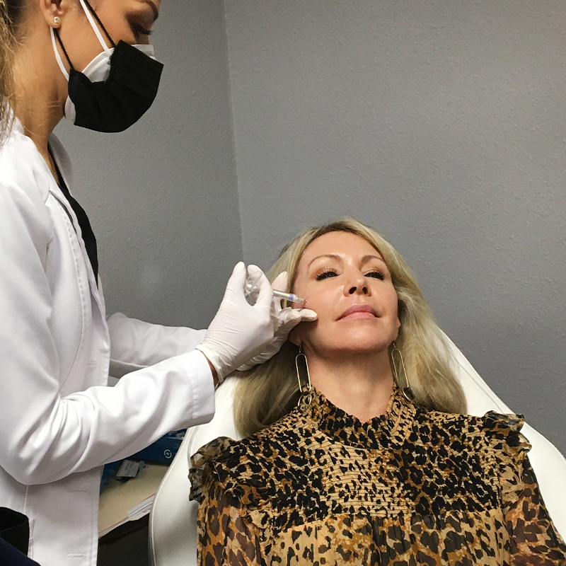 advanced aesthetics injectables session